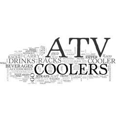 atv coolers on the go text word cloud concept vector image