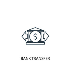 Bank transfer concept line icon simple element vector