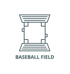 baseball field line icon baseball field vector image