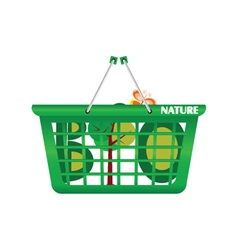 Basket nature and eco vector