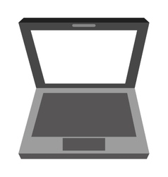 black and grey laptop vector image