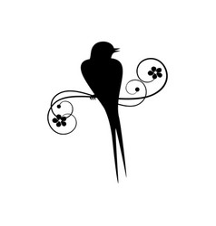 black swallow silhouette vector image