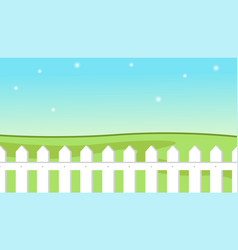 blue sky background with decorative picket white vector image