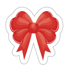 Bow ribbon icon vector