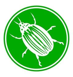 Bug button vector image
