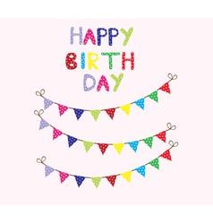 bunting birthday card vector image