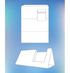 Business card display Box Box with blueprint vector image