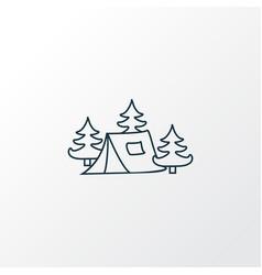 camping tent icon line symbol premium quality vector image