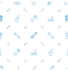 champagne icons pattern seamless white background vector image