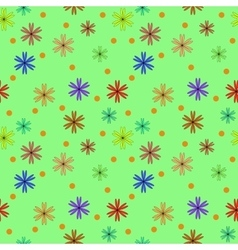 Circle and flower color seamless pattern vector
