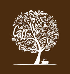 Cofee time art tree for your design vector