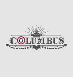 Columbus city name vector