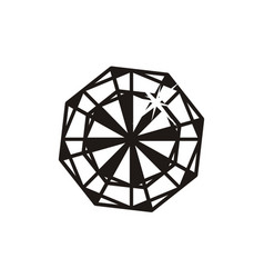 diamond logo design template vector image
