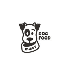 dog food logo vector image