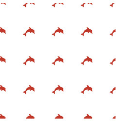 Dolphin icon pattern seamless white background vector