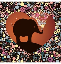 elephant lover vector image