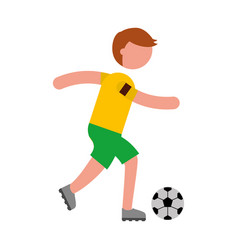 Ethlete practicing soccer avatar vector