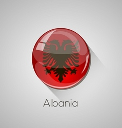 European flags set - Albania vector image