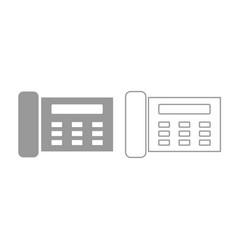 fax icon grey set vector image