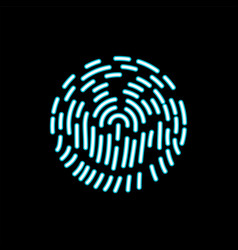 fingerprint icon biometric identification symbol vector image