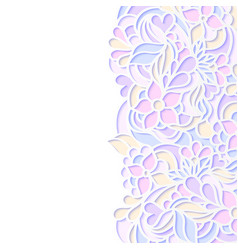 Floral colorful border vector
