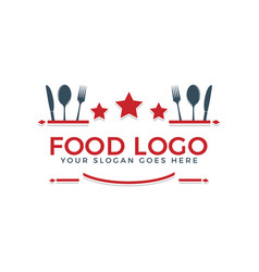 food logo text logo design vector image