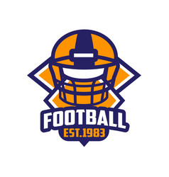 football est 1983 logo template american vector image
