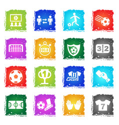 football simply icons vector image