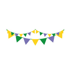garlands party isolated icon vector image