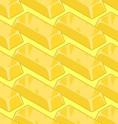 Gold bullion seamless pattern Golden ingot of vector image