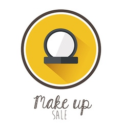 Make up design vector image