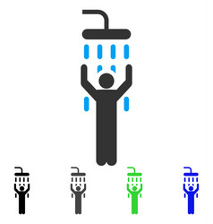 man under shower flat icon vector image
