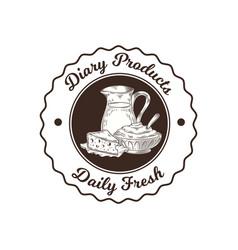 milk shop logo vector image