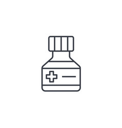 mixture medical thin line icon linear vector image