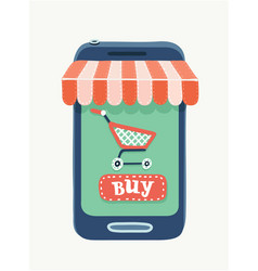 mobile phone store concept vector image