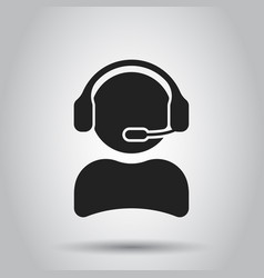 Operator with microphone icon operator in call vector