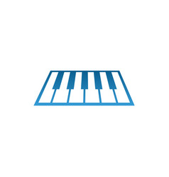 piano music logo and icon design template vector image