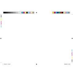 Printer marks vector