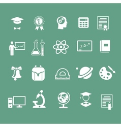 School signs icons vector