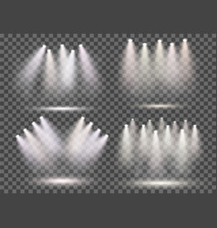 set with spotlights with smoke and scene vector image