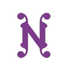 sign letter n vector image