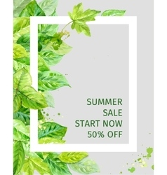 summer leaves spring sale vector image