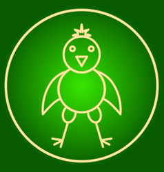 The chicken in the neon circle easter vector