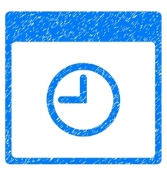 Time Calendar Page Grainy Texture Icon vector