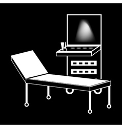 Ultrasound machine medical technology silhouette vector