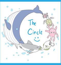 underwater animals vector image