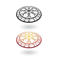 viking circle perspective symbols set vector image