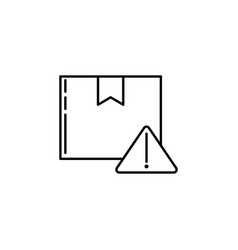 warning parcel signs and symbols can be used for vector image