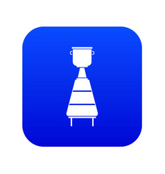 wine distillery equipment icon digital blue vector image
