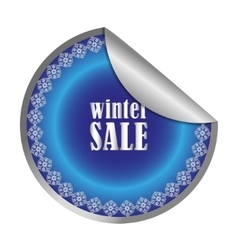 Winter Sale label vector image